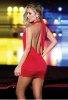 Merry See Dekolteli Kırmızı Sexy Mini Elbise
