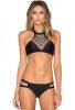 Siyah Baskılı Şık Tasarım Tankini Bikini