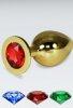 Kırmızı Büyük boy gold anal plug
