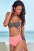 Kaplı Şık Tasarımlı Yüksek Bel Bikini