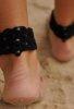 Siyah Ayak takısı Halhal Ayak aksesuarı Siyah