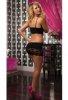 Siyah Mini Arkadan Dekolteli Elbise