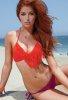Fırfırlı 2 Renk Özel Tasarım Bikini
