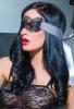 Seksi Dantelli Maske Kelepçe Sütyen Ve Külot Takım