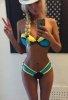 Renkli Özel Tasarım 2015 Bikini