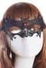 Yarasa Tasarım Taşlı Dantel Göz Maskesi